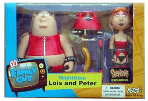 Family Guy 2- Pack Exclusive Nighttime Peter and Lois Red Variant