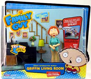 Playmates Family Guy - Living Room Playset with Lois Griffin