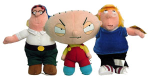 8-Inch Family Guy Set of 3