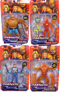 Fantastic Four Classic Series 1 Set of 4 - Flame Variant Skrull