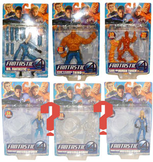 Fantastic Four Movie Series 1 Set of 4 with RANDOM Invisible Woman
