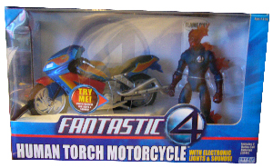 Human Torch Motorcycle with Electronic Lights and Sound
