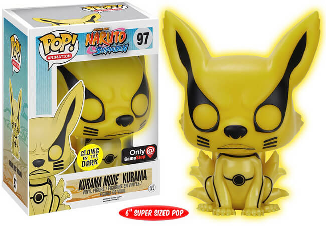Funko Pop Anime - 3.75 Vinyl Kurama Glow in Dark Exclusive