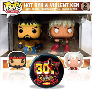 Funko Pop Anime - 3.75 Vinyl 30th Anniversary Street Fighter Ryu and Ken Exclusive