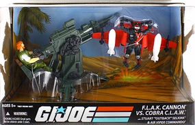 25th Anniversary F.L.A.K Cannon Vehicle vs Cobra C.L.A.W. Vehicle