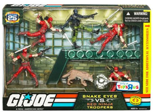 G.I. Joe Troop Builder Set - Snake Eyes Vs. Red Ninja Troopers