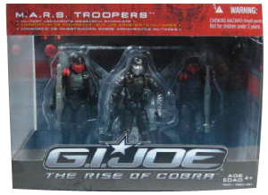 Rise Of Cobra - M.A.R.S(Mars) Troopers 3-Pack