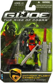 GI Joe Rise Of Cobra - Laser Rifle Trooper - Anthony -Flash- Gambello