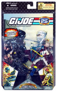 25th Anniversary Comic 2-Pack: Battle-Torn Snake Eyes and Storm Shadow