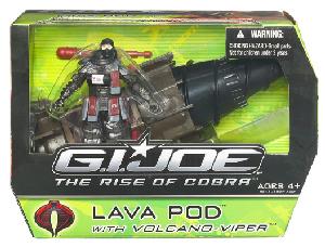 The Rise Of The Cobra - Lava Pod with Volcano Viper