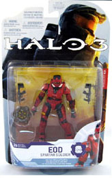 Halo 3 Series 4 - Spartan Soldier EOD - Red