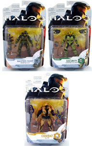 Halo 3 Series 4 - Set of 3[Master Chief, Security, Combat Elite]