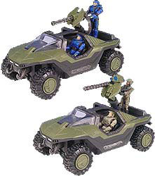 Halo 2 Warthog Die Cast Set of 3