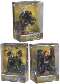 Halo 3 Master Chief, Brute Chieftain, Arbiter Statue Set of 3
