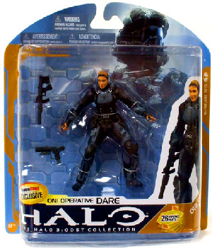 Halo 3 Series 8 - ONI operative Dare No Helmet Exclusive