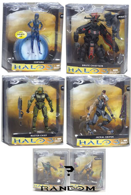 Mcfarlane - Halo 3 Series 1 - Set of 5 RANDOM GRUNT NO SPARTAN