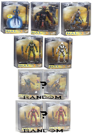 Mcfarlane Halo 3 - Series 1 Set of 7 RANDOM GRUNT AND RANDOM RED SPARTAN