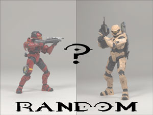 Mcfarlane Halo 3 - Series 2 RANDOM SPARTAN (Scout Tan OR CQB Red)