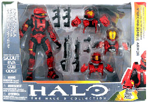 HALO SCOUT DELUXE ARMOR PACK (RED)