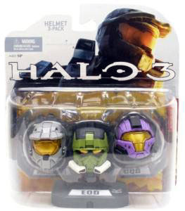 Halo 3 Helmets Set - Grey Mark VI, Olive EOD, Purple CQB