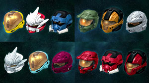 Halo 3 Helmets Set Series 1 - Set of 4