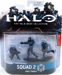 Halo Wars - Set 2 - 2 Spartan Soldiers and 1 Marine - Blue