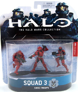 Halo Wars - Set 3 - 2 Spartan Soldiers and 1 Marine - Red