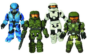 Halo Minimates - Exclusive 4-Pack [Master Chief, UNSC Marine, White Spartan, Elite Cobalt]