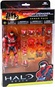 Halo Reach - Red Spartan Grenadier Armor Pack - Commando, Scout, EVA