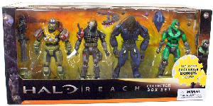 Halo Reach Exclusive 4-Pack: [Jorge, Emile, Elite Minor, Green Spartan Mark V]