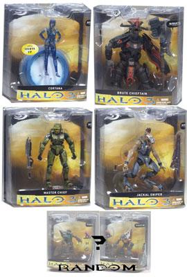 Mcfarlane - Halo 3 Series 1 - Set of 5 RANDOM GRUNT NO SPARTAN