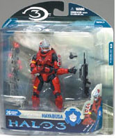 Halo 3 Series 3 - SPARTAN SOLDIER HAYABUSA RED