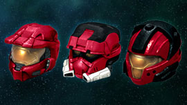 Halo 3 Helmets Set 1 - Mark VI, EOD, CQB - All Red