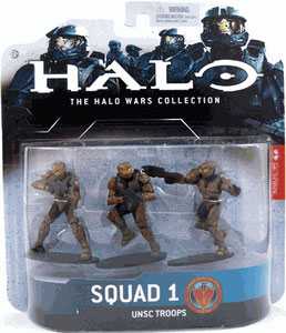 Halo Wars - Squad 1 - UNSC Troops (Brown)