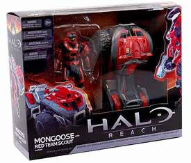 Halo Reach Deluxe Vehicle - Mongoose with Red Team Scout Spartan