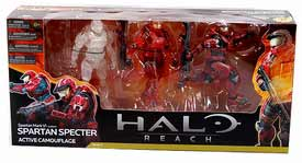 Halo Reach - 3-Pack Spartan Spectre - Active Camo, Partial Painted, Fully Painted