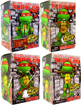 TMNT - Head Knockers Set of 4[Leonardo, Michelangelo, Raphael, Donatello]