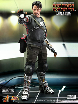 Hot Toys Iron Man 12-Inch 1/6th Scale Tony Stark Mech Test Version