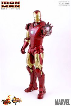 Hot Toys Iron Man 12-Inch 1:6th Scale Iron Man Mark III