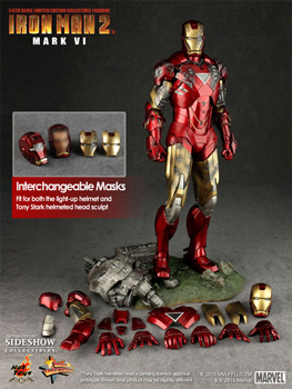 Hot Toys Iron Man 2 Movie 12-Inch 1:6th Scale Iron Man Mark VI