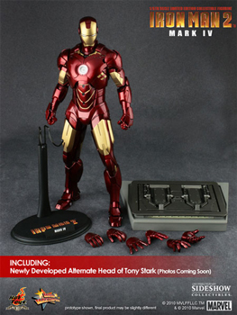 Hot Toys Iron Man 2 Movie 12-Inch 1:6th Scale Iron Man Mark IV