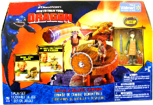 How To Train Your Dragon Playset - Battle and Collapse Slingshot [Includes Hiccup with Apron]