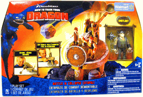 How To Train Your Dragon Playset - Battle and Collapse Catapult [Includes Snoutlout]