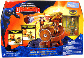 How To Train Your Dragon Playset - Battle and Collapse Slingshot [Includes Battle Ready Hiccup]