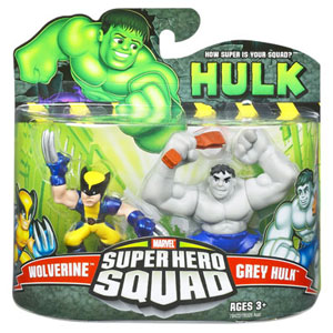 Super Hero Squad - Grey Hulk and Wolverine