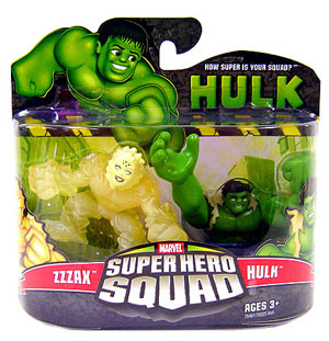 Super Hero Squad - Zzzax and Hulk