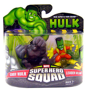 Super Hero Squad - Grey Hulk and Leader Villain