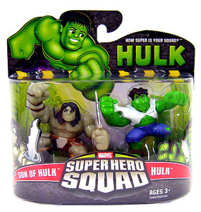 Super Hero Squad - Son Of Hulk and Hulk