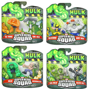 Hulk Super Hero Squad 2-Pack Set of 4
