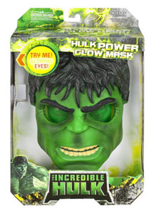 The Incredible Hulk 2008 - Power Glow Mask - Damaged Packaging